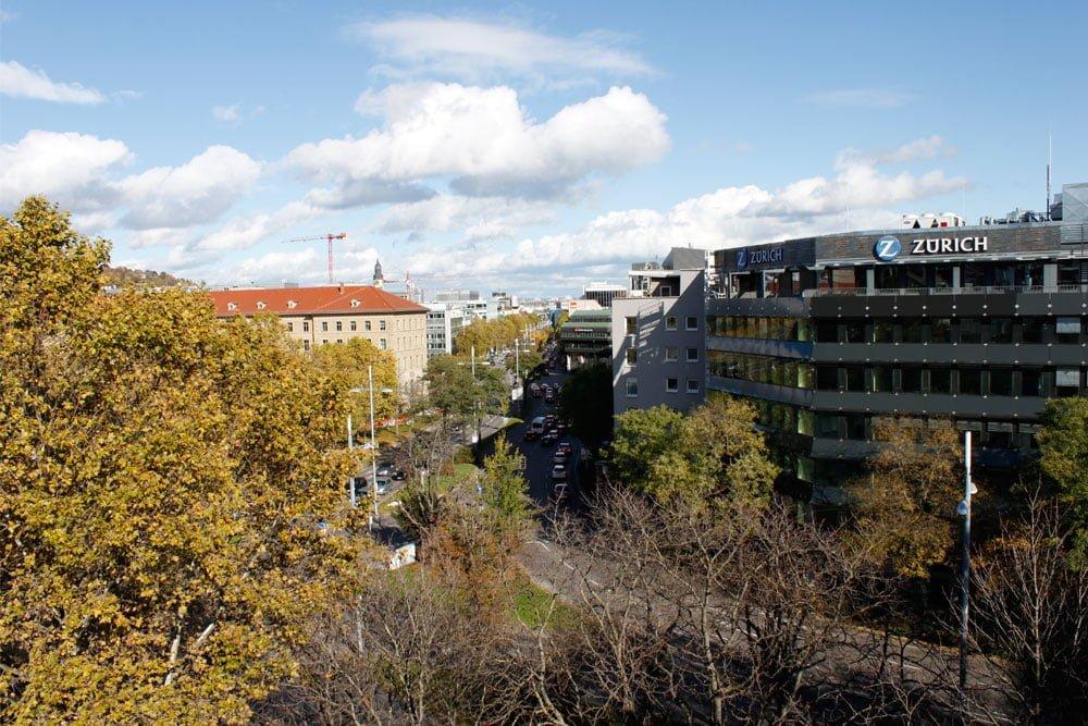 Aussicht von Stuttgarter econsor Büro