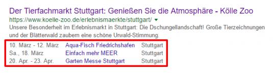 Screenshot google suche Kölle zoo