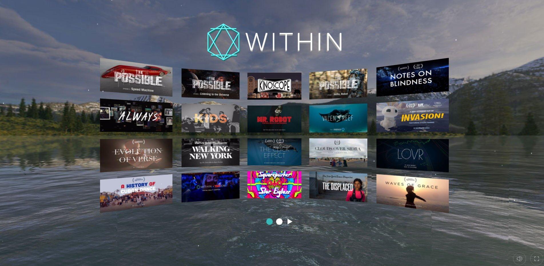 Screenshot Web Vr