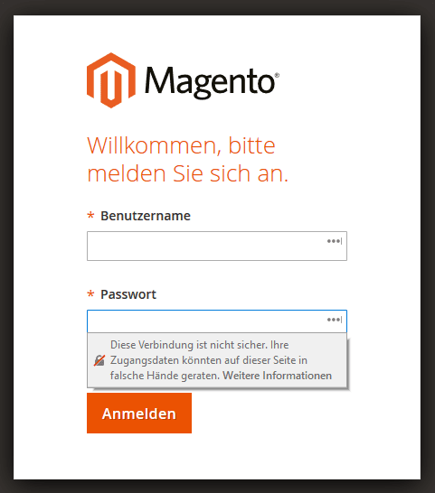 Screenshot Magento