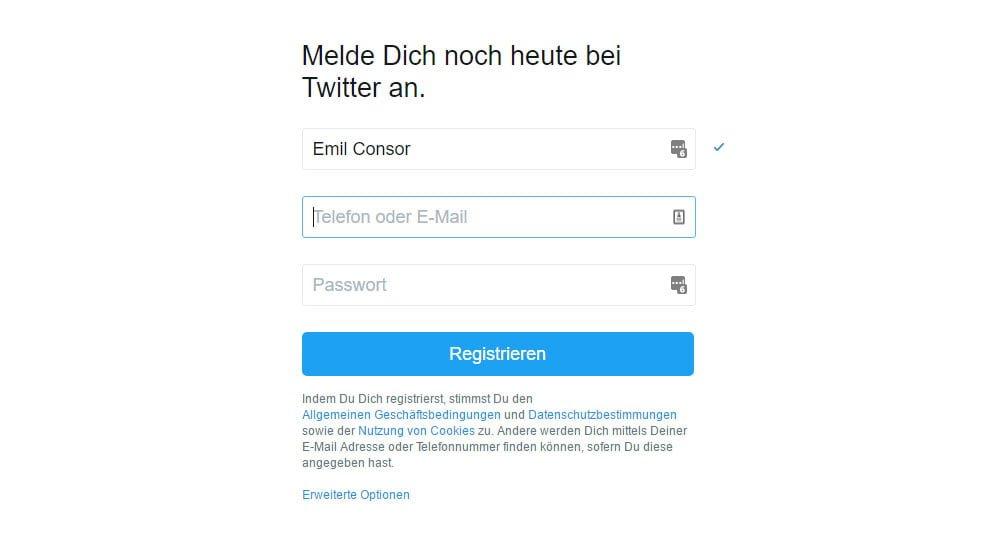 Screenshot Twitter