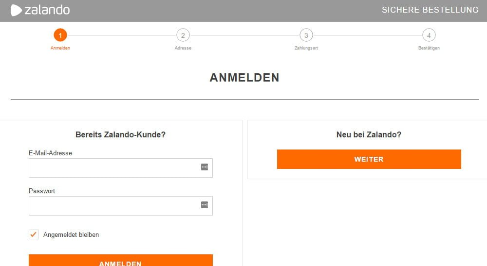 Screenshot Zalando