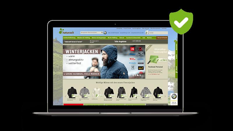 Sicherer Online-Shop von Naturzeit Screenshot