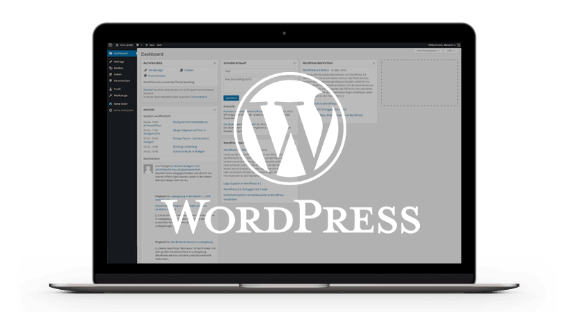 WordPress Backend Screenshot