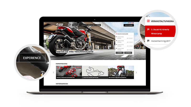 Ducati Webdesign Screenshot
