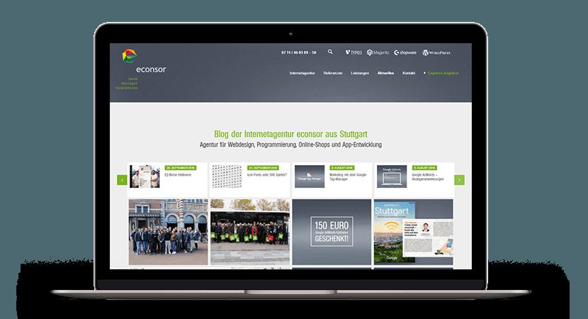 econsor Firmenblog Screenshot