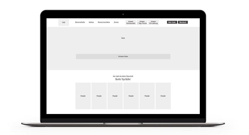 Wireframe Konzept Screenshot