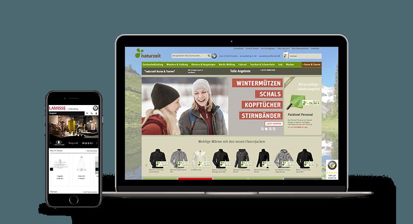 Online-Shop Referenzen Screenshot