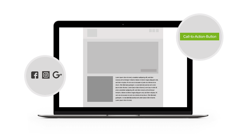 Newsletter-Marketing Schaltflächen
