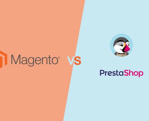Beitragsbild Magento vs Prestashop
