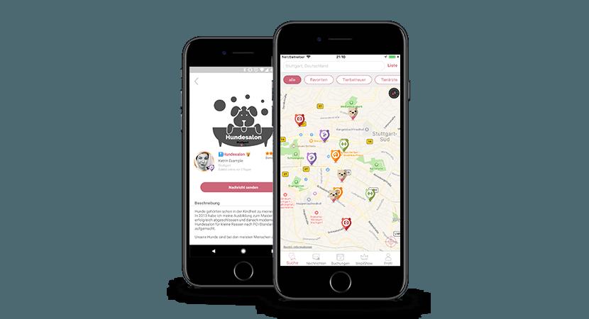 Blepi - Karte und Salon im iPhone
