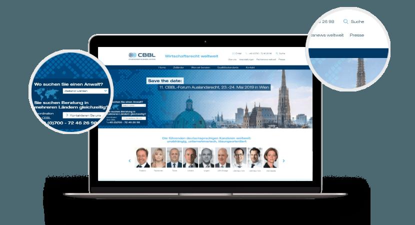 CBBL Startseite – Webdesign Screenshot