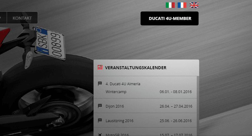 Ducati mehrere Sprachen