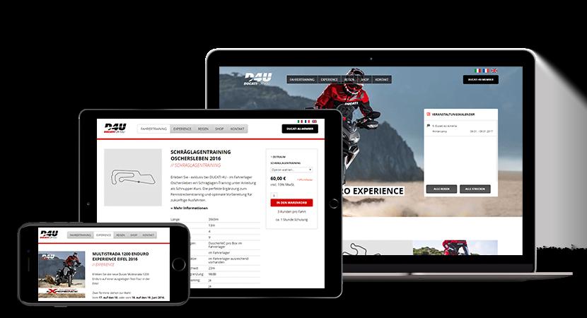 Responsive Design von Ducati