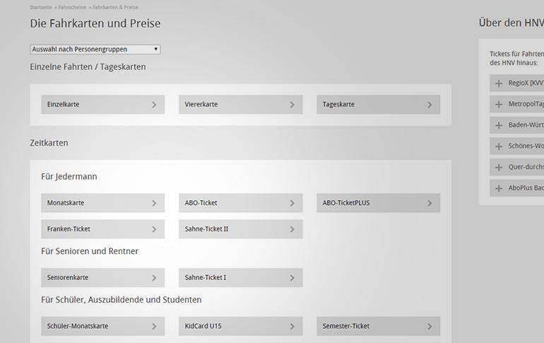 H3NV Fahrkarten und Preise