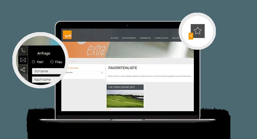 golf-exta-Schnellnavigation