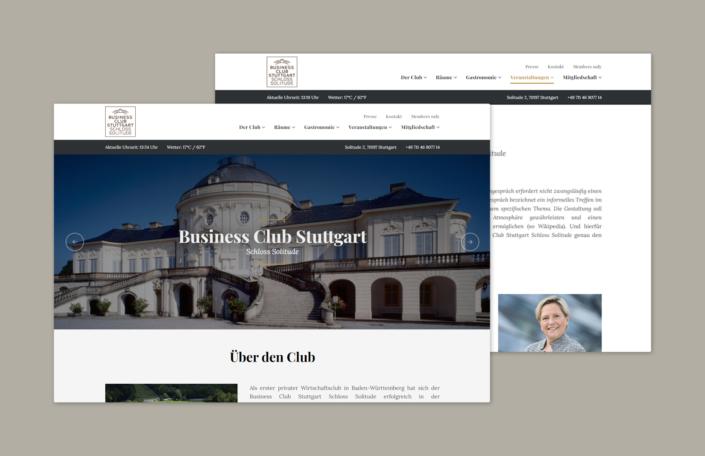 Businessclub - Internetseite