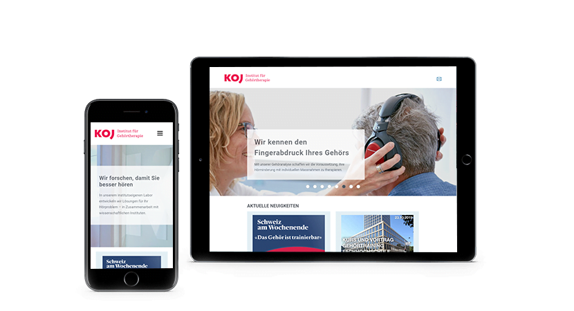 Das responsive Design von KOJ