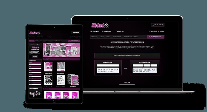 McGard Online-Shop Screenshot