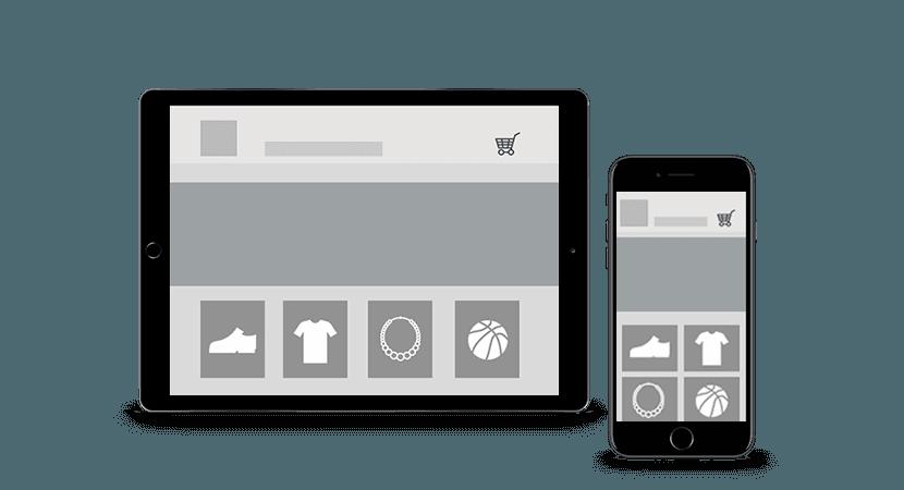 Webshop-Wireframe Grafik