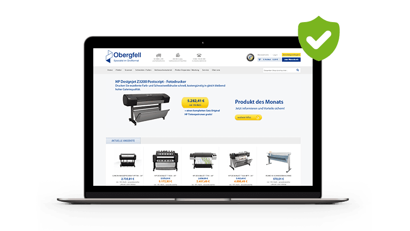 Magento Online-Shop von Obergfell Screenshot