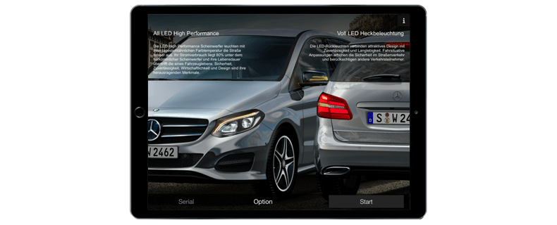 Mercedes Benz App IPad