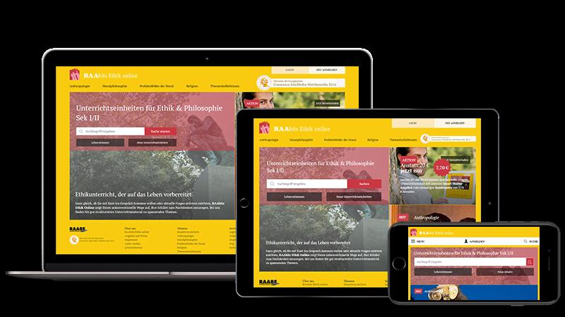 RAAbits Webportal Screenshot