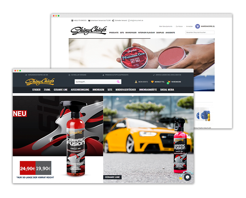 ShinyChiefs - Relaunch Design