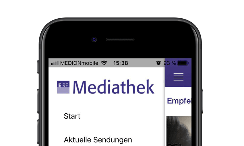 ERF Mediathek App Screenshot