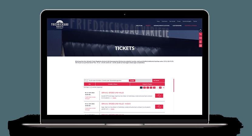 Referenz Friedrichsbau Tickets