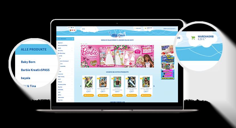 Blue Ocean Online-Shop – Startseite