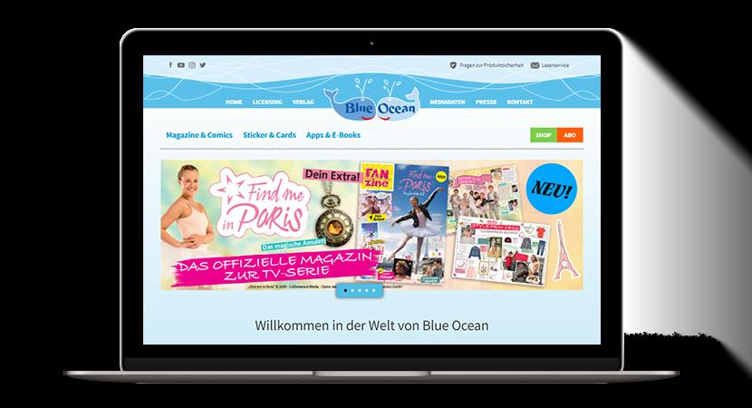 Blue Ocean TYPO3-Seite