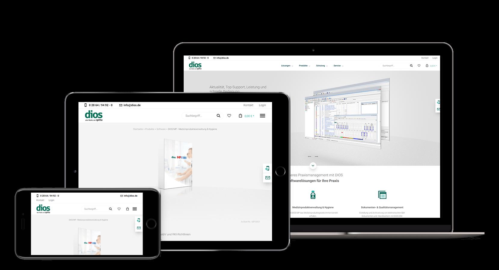 Dios Neues Konzept für das Webdesign