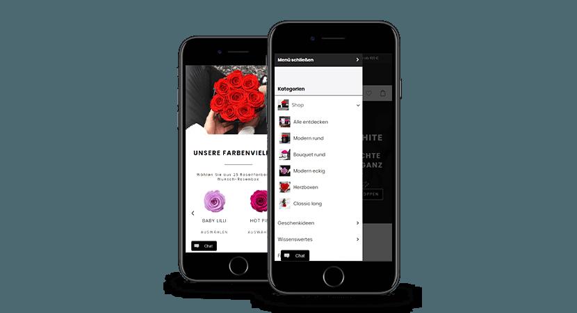 LOVE Flowerbox auf IPhones