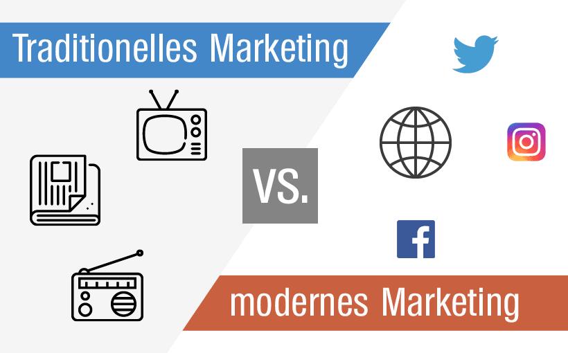 Beitrag Traditionelles vs modernes Marketing