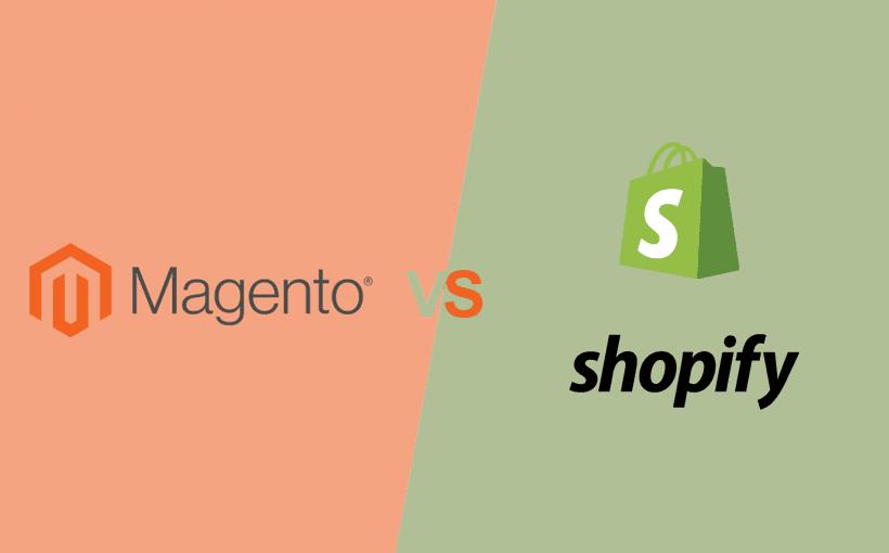 Beitragsbild magento vs shopify