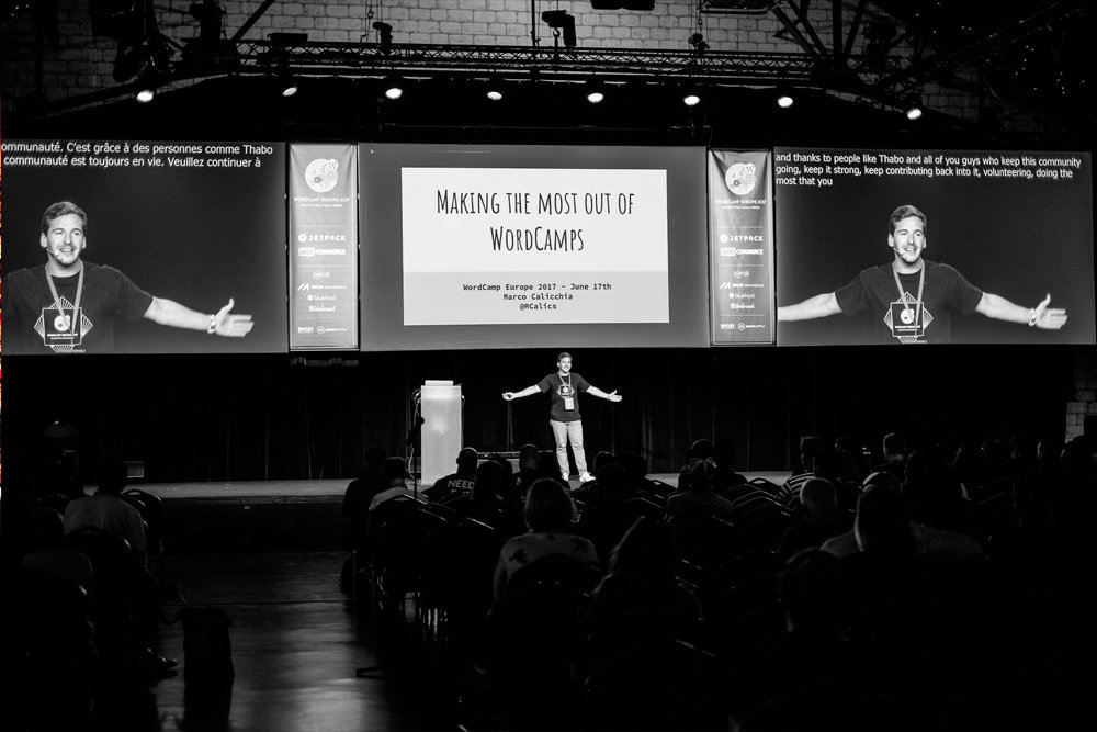 Impression des WordCamp Europe von 2017