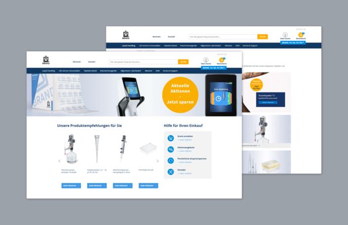 Brand Webseite