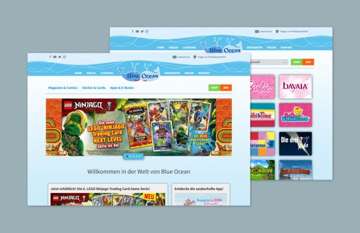 Blue Ocean Webseite