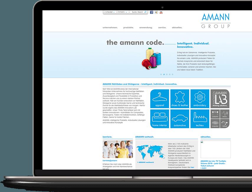 Amann Case Study - Startseite