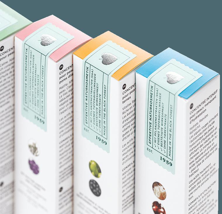 Annemarie Börlind Produktverpackungen