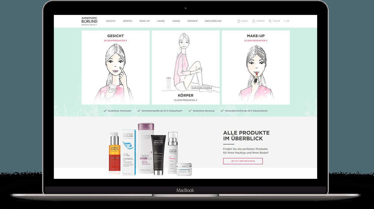 Annemarie Börlind neue Webseite