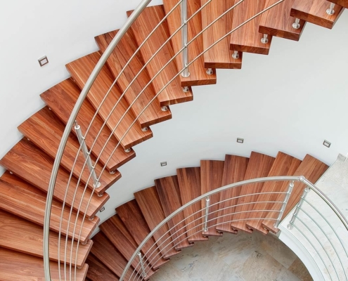 Treppen in Holzoptik