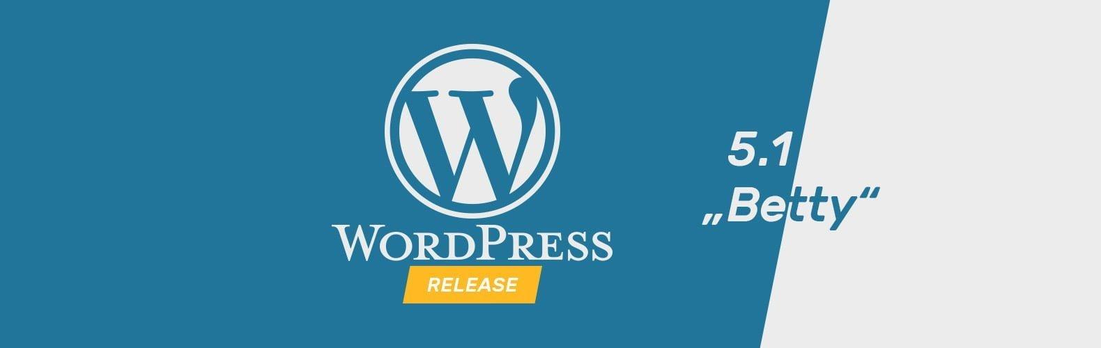 """WordPress Update """"Betty"""" 5.1"""