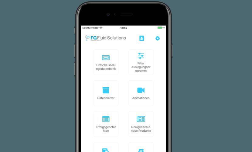 Übersicht Filtration Group App