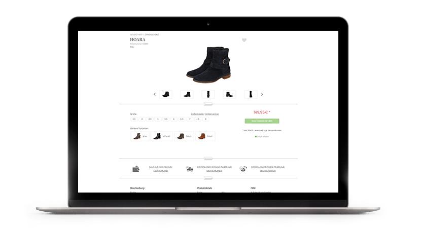 Macbook Produktdetailseite Sioux