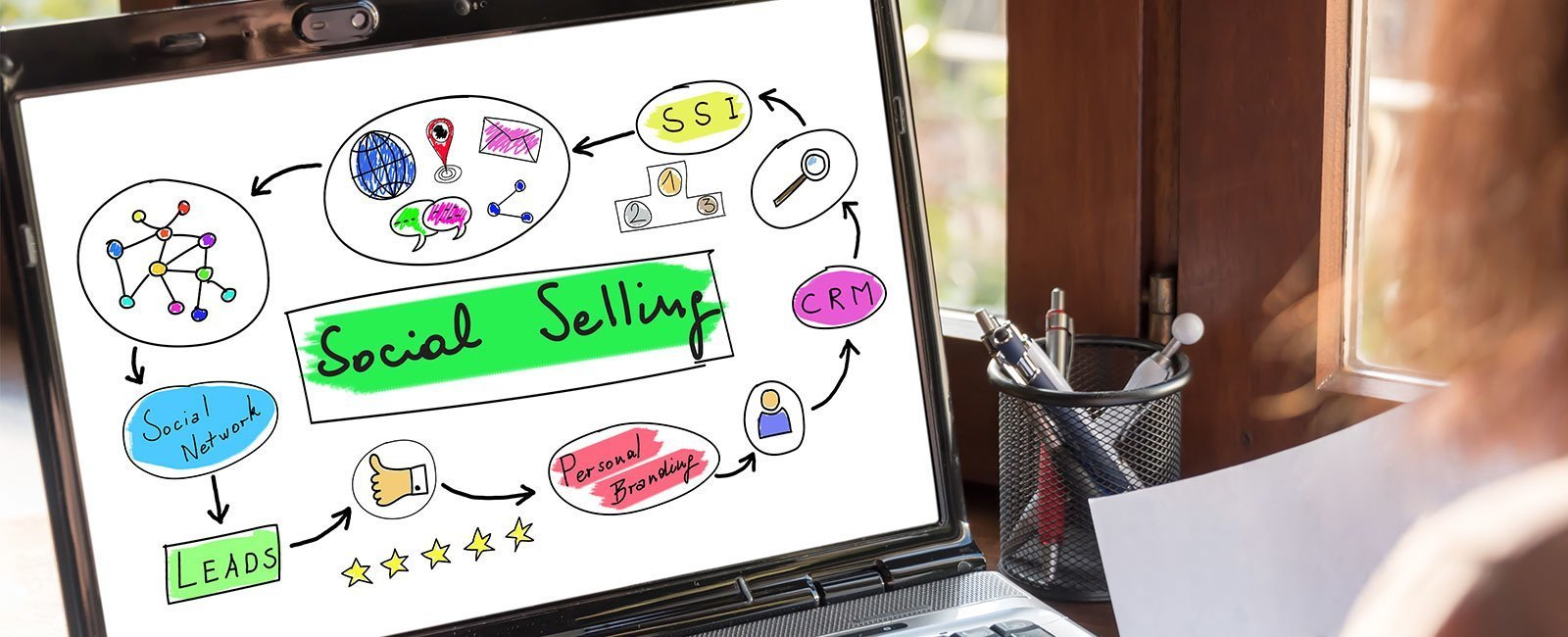 Blog econsor SOCIAL SELLING mit Social Media Posts