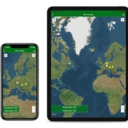 Handy und Ipad Weltkarte Widiner