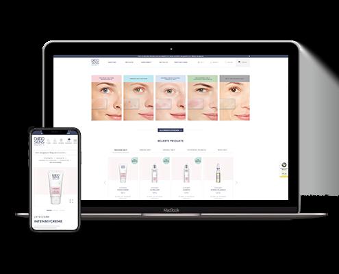 Mockup der Webseite DADO SENS auf einem Macbook und einem iPhone X