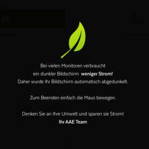 Feature im Portal: Abgedunkelter Bildschirm